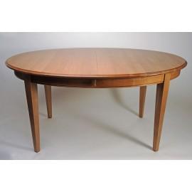 Table ovale avec 2 allonges portefeuille. chêne