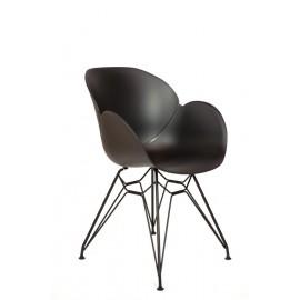 Chaise DAHLIA Noir / blanc