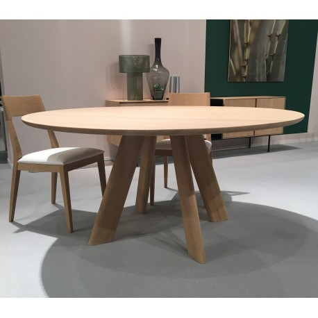 Table Ronde 130 Cm.Table Eau Rouge Ronde 130cm Splendeur Du Bois Bruxelles