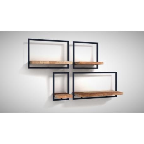 etag re murale 120 x 75 cm de haut splendeur du bois. Black Bedroom Furniture Sets. Home Design Ideas