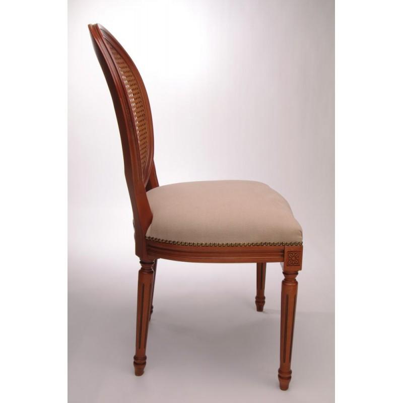 Chaise louis xvi m daillon dos cann splendeur du bois bruxelles - Chaise medaillon louis xvi ...