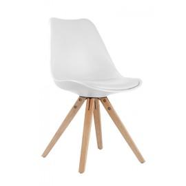 Chaise RETRO blanc, noir ou gris
