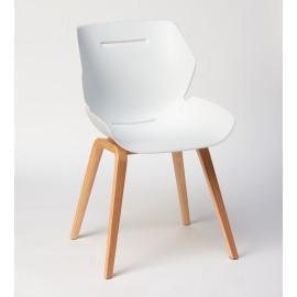 Chaise TOOON 2 Wood blanc/ noir