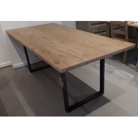 Table rectangulaire vieux chêne raboté 200x90 ou sur mesure