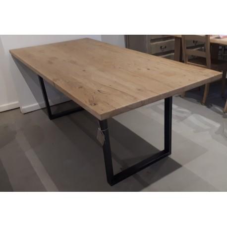 Table chene ancien avec pieds Intrépide