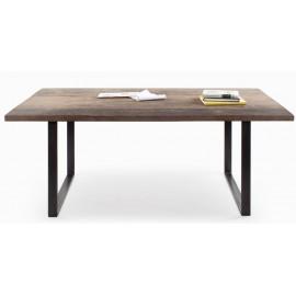 Table rectangulaire bois brut mixte 180x90 ou sur mesure