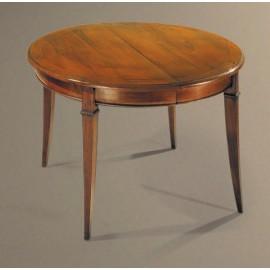 Table MELANIE 120x120. 1à 4 allonges