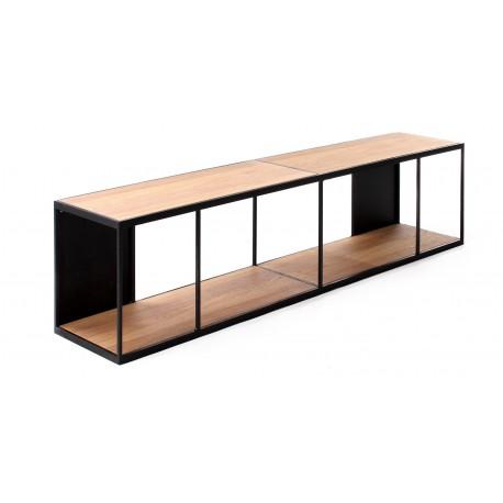 RUBIC étagère fer & chêne A7010