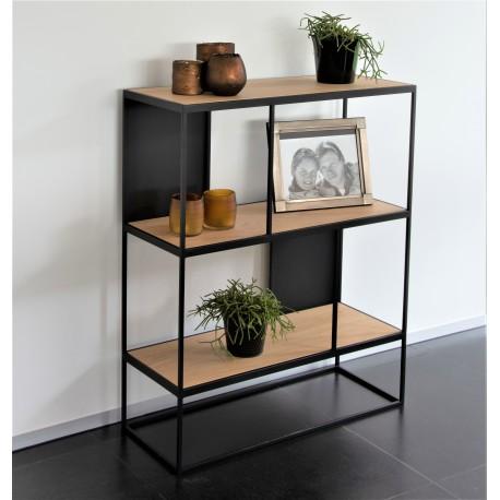 RUBIC étagère fer & chêne