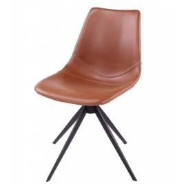 Chaise OMAR pivotant, pieds en métal noir