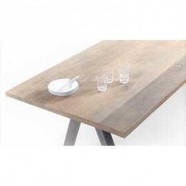 Plateau de table brut mixte pin, orme, frêne sur mesure