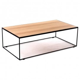 RUBIC tables basse salon 130*70 fer & chêne A7009