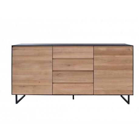 ALEXI buffet 1 porte / 3 tiroirs 120 x Ht85cm