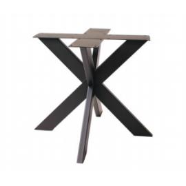 Pied MIKADO fer noir pour table carrée ou ronde