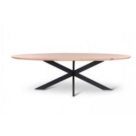 Table ovale BEVELED chêne