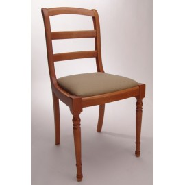 Chaise barrettes pieds tournées