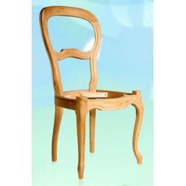 Chaise Louis-Philippe pieds galbés garnie