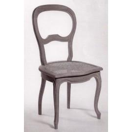 Chaise Louis-Philippe pieds galbés cannée