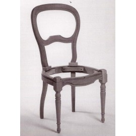 Chaise Louis-Philippe assise garnie