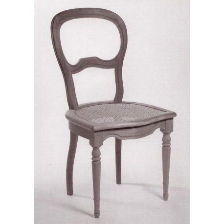 Chaise Louis-Philippe cannée pieds tournés