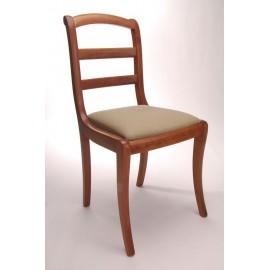 Chaise barrettes pieds sabres garnie