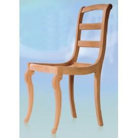 Chaise 3 barrettes pieds volutes garnie