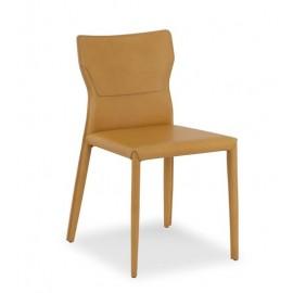 """Chaise SARAH cuir véritable """"C"""""""