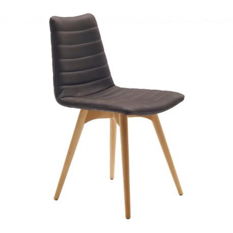 Chaise avec structure en bois