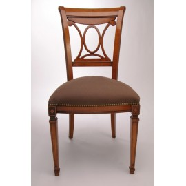Chaise Directoire motif central oval