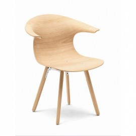 Chaise LOOP 3D Wood wooden legs