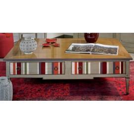 Table basse avec quatre tiroirs