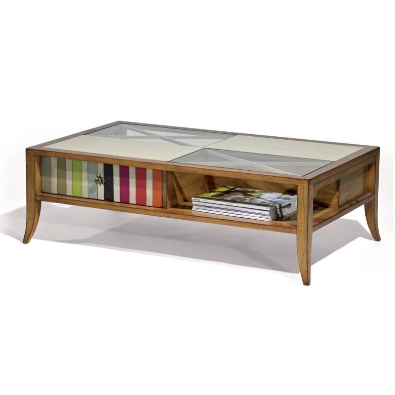 Table basse lizbeth avec niches splendeur du bois bruxelles - Table basse bruxelles ...