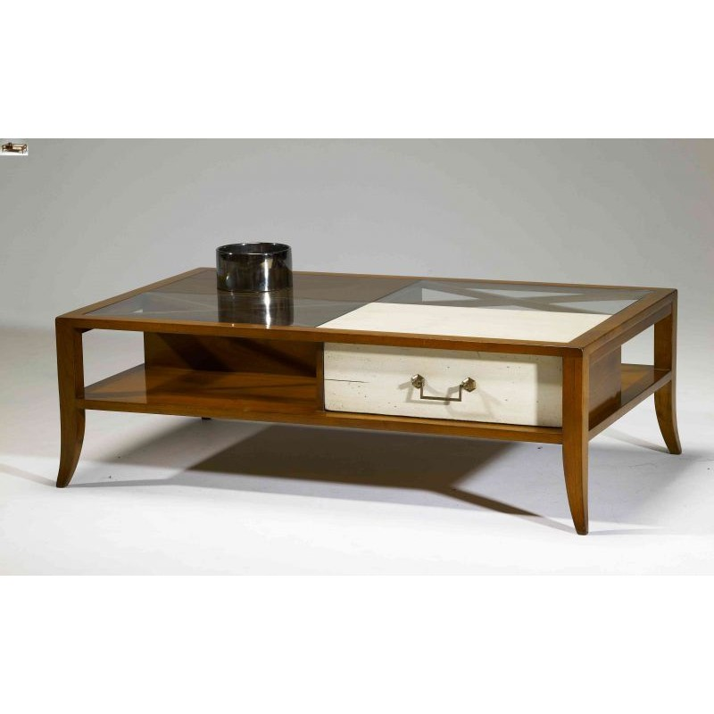 Table basse lizbeth avec niches splendeur du bois bruxelles - Table basse bruxelles ...