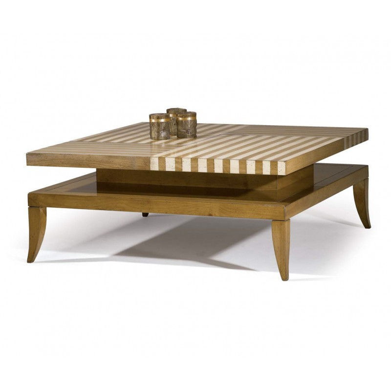 Table basse milhauwk multi couleurs splendeur du bois bruxelles - Table basse bruxelles ...