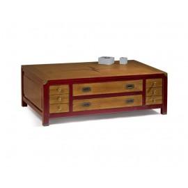 Table avec quatre tiroirs