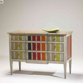 Commode FLO 3 tiroirs multi-couleurs